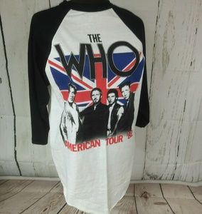 Vintage '82 The Who American Tour jersey shirt